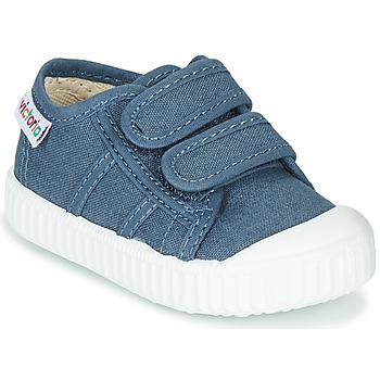 Shoes Children Low top trainers Victoria BASKET VELCRO Blue