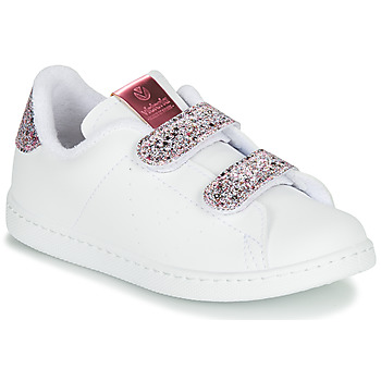 Shoes Girl Low top trainers Victoria TENIS VELCRO G White