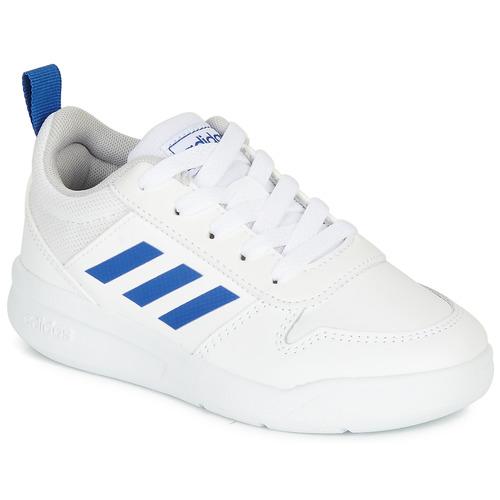 Shoes Boy Low top trainers adidas Performance TENSAUR K White / Blue