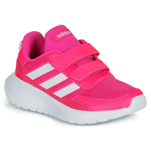 Shoes Girl Low top trainers adidas Performance TENSAUR RUN C Pink / White