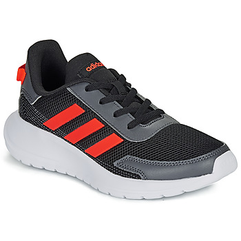 Shoes Children Low top trainers adidas Performance TENSAUR RUN K Black / Red