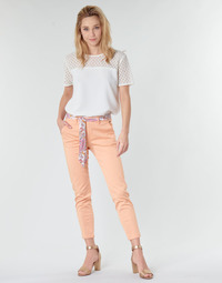 Clothing Women chinos Freeman T.Porter CLAUDIA FELICITA Coral