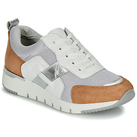 Shoes Women Low top trainers Caprice BEBENE White / Camel