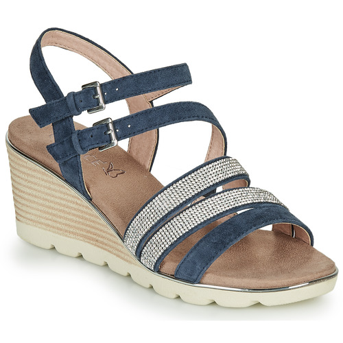 Shoes Women Sandals Caprice PARIKO Marine / Silver
