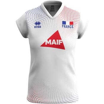 Clothing Women Short-sleeved t-shirts Errea Maillot femme extérieur Equipe de france 2020 blanc