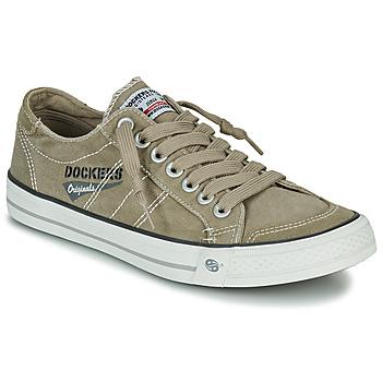 Shoes Men Low top trainers Dockers by Gerli  Kaki