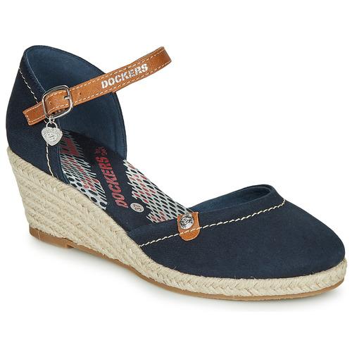 Shoes Women Espadrilles Dockers by Gerli 36IS210-667 Marine