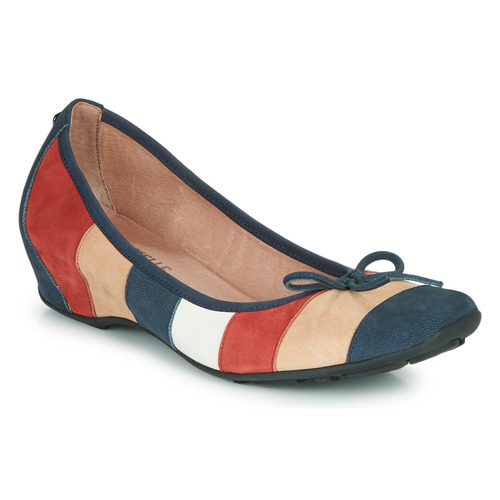 Shoes Women Flat shoes Mam'Zelle FLUTE Blue / Beige / Bordeaux