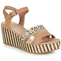Shoes Women Sandals Mam'Zelle PISTO Nude / Gold / Leopard