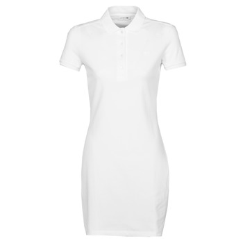Clothing Women Short Dresses Lacoste EUGENIE White