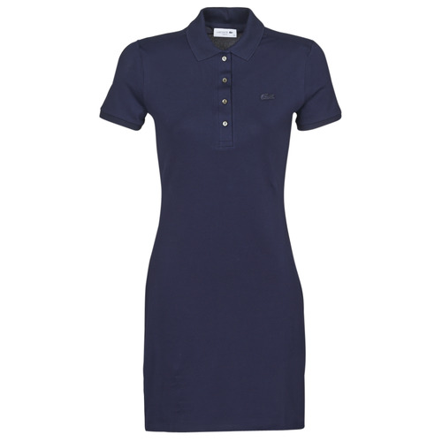 Clothing Women Short Dresses Lacoste SOLENE Marine
