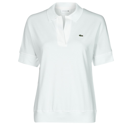 Clothing Women Short-sleeved polo shirts Lacoste BERRY White
