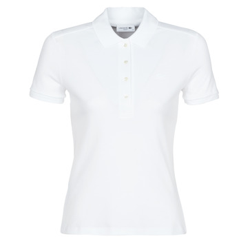 Clothing Women short-sleeved polo shirts Lacoste PH5462 SLIM White