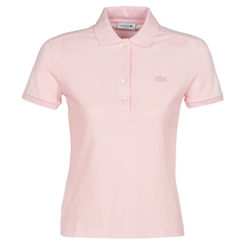 Clothing Women short-sleeved polo shirts Lacoste PH5462 SLIM Pink
