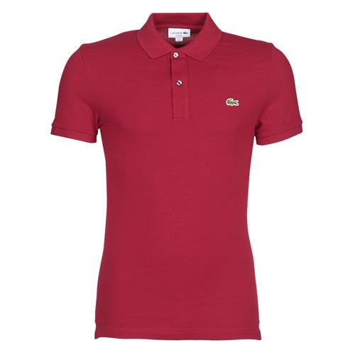 Clothing Men Short-sleeved polo shirts Lacoste PH4012 SLIM Bordeaux