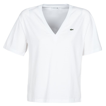 Clothing Women short-sleeved t-shirts Lacoste  White