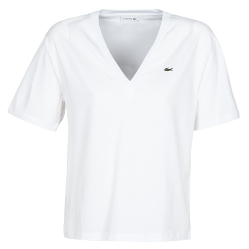 Clothing Women short-sleeved t-shirts Lacoste CONSTANTIN White