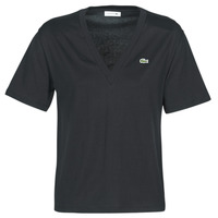 Clothing Women short-sleeved t-shirts Lacoste  Black