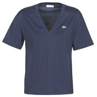 Clothing Women short-sleeved t-shirts Lacoste  Marine
