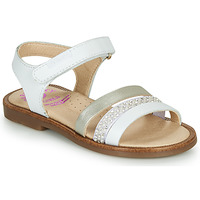 Shoes Girl Sandals Pablosky  White / Mother-of-pearl