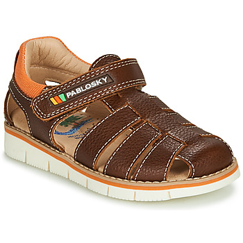 Shoes Boy Sandals Pablosky  Brown / Orange