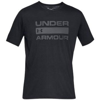 Clothing Men Short-sleeved t-shirts Under Armour Team Issue Wordmark Black