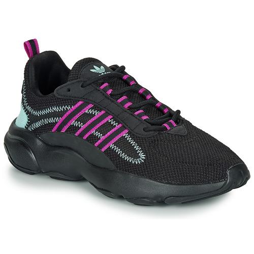 Shoes Women Low top trainers adidas Originals HAIWEE W Black / Purple