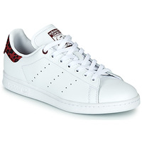 Shoes Women Low top trainers adidas Originals STAN SMITH W White / Bordeaux