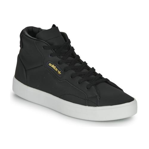 Shoes Women Hi top trainers adidas Originals adidas SLEEK MID W Black