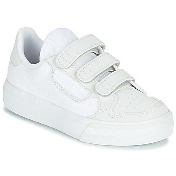 Shoes Children Low top trainers adidas Originals CONTINENTAL VULC CF C White / Beige