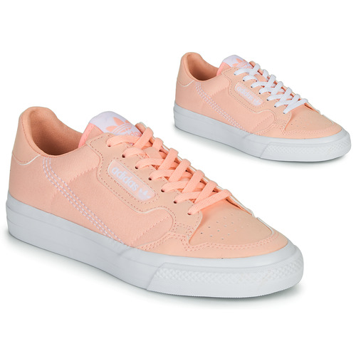 Shoes Girl Low top trainers adidas Originals CONTINENTAL VULC J Pink