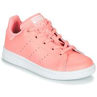 Shoes Girl Low top trainers adidas Originals STAN SMITH C Pink