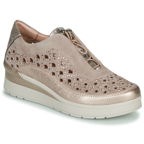 Shoes Women Low top trainers Stonefly CREAM 22 Beige / Gold
