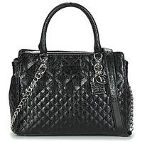 Bags Women Handbags Guess QUEENIE LUXURY SATCHEL Black