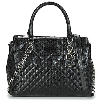 Bags Women Handbags Guess QUEENIE LUXURY SATCHEL Black