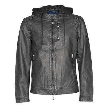 Clothing Men Leather jackets / Imitation leather Guess VINTAGE ECO-LEATHER JKT Black