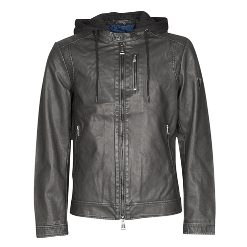 Clothing Men Leather jackets / Imitation leather Guess VINTAGE ECO-LEATHER JKT Black