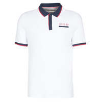 Clothing Men Short-sleeved polo shirts Guess LES SS POLO White