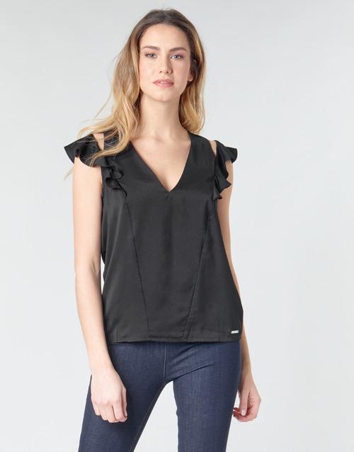 Clothing Women Tops / Blouses Guess SS DAHAB TOP Black