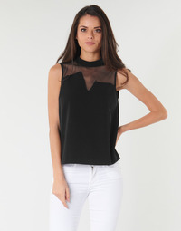 Clothing Women Tops / Blouses Guess SL MAYA TOP Black