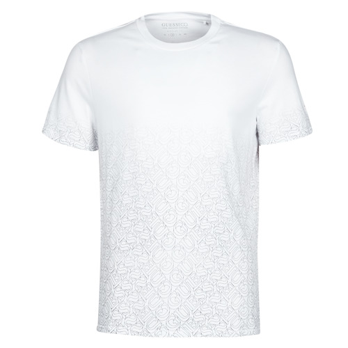 Clothing Men Short-sleeved t-shirts Guess CN SS 1000GUESS TEE White