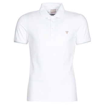 Clothing Men Short-sleeved polo shirts Guess AMIAS SS POLO White