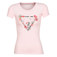 Clothing Women short-sleeved t-shirts Guess SS CN LORY TEE Pink