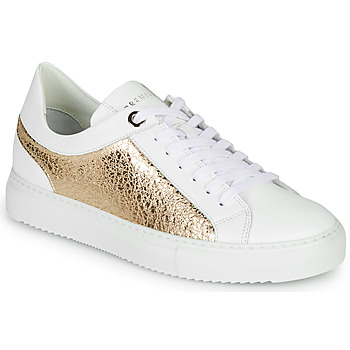 Shoes Women Low top trainers Myma LINONETTE White / Gold
