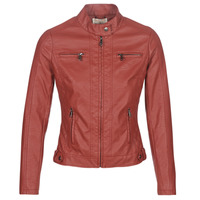 Clothing Women Leather jackets / Imitation leather Moony Mood  Red
