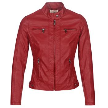 Clothing Women Leather jackets / Imitation leather Moony Mood AW075-ROUGE Red