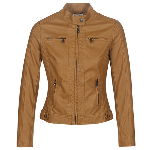 Clothing Women Leather jackets / Imitation leather Moony Mood DUIR Camel