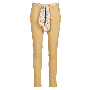 Clothing Women Chinos Le Temps des Cerises LIDY Beige