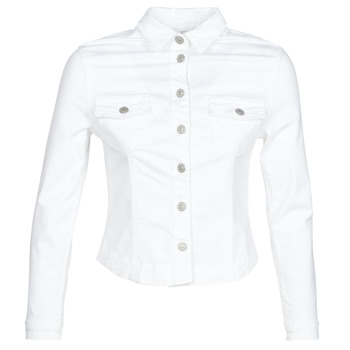 Clothing Women Denim jackets Le Temps des Cerises LILLY White