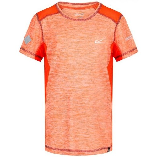 Clothing Boy Short-sleeved t-shirts Regatta Takson Breathable T-Shirt Oxford Blue Orange Orange